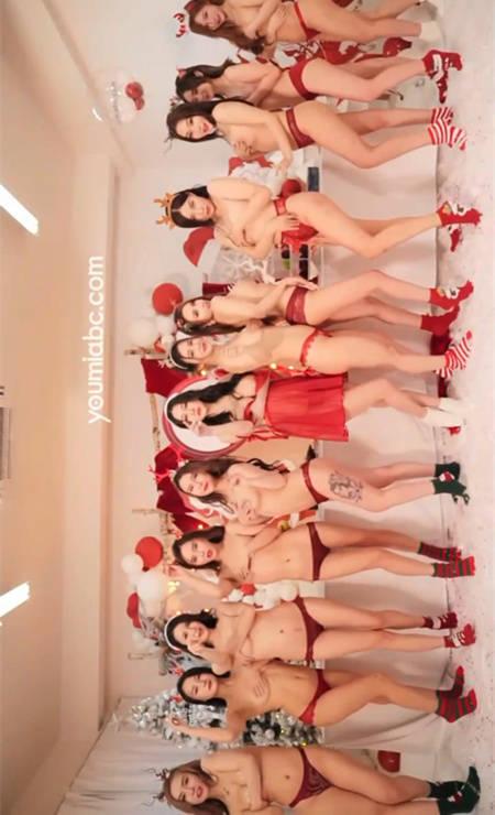 十二妖姬の狂欢!尤蜜众女模也来跟粉丝庆圣诞啦