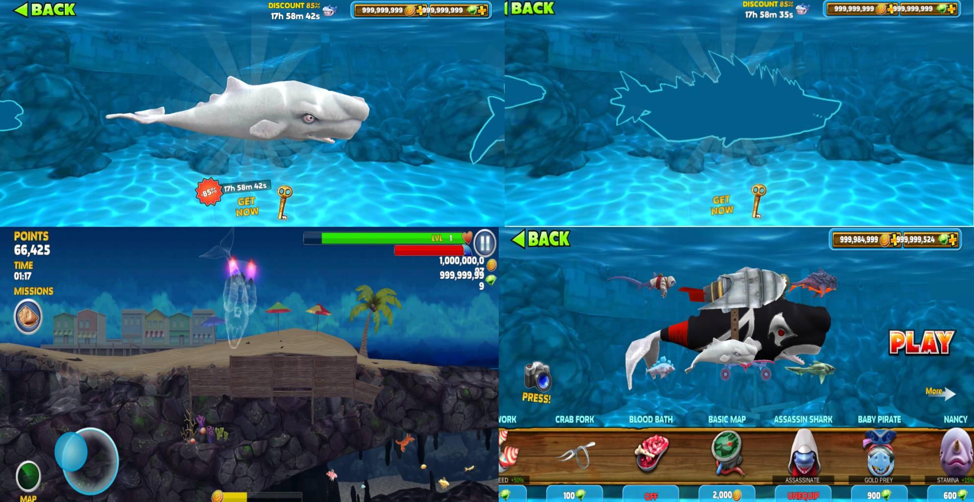 『国际版』饥饿鲨v7.0-依辰破解版<无限金币/宝石>