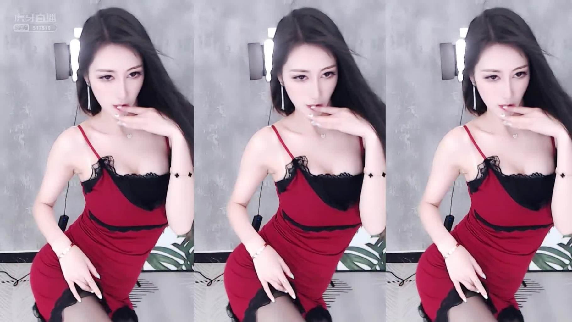 虎牙_MY车老板2021_04_07红衣裙热舞