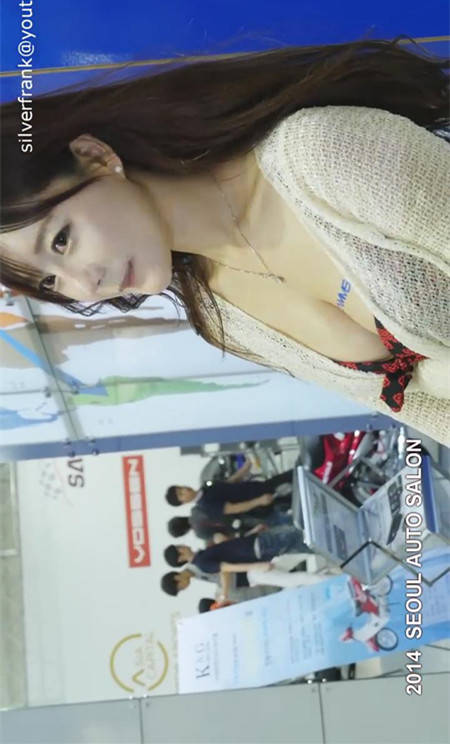 韩国车模崔瑟琪可爱诱人 2014首尔车展CAMMSYS展台